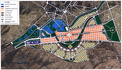 The plan for Kabul's nine billion dollar future modern urban development project, the City of Light Development.