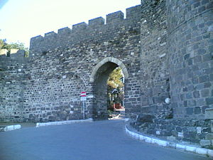 Konak, İzmir - Entry of castle walls in Kadifekale.