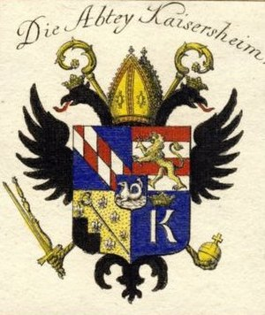 Kaisheim Abbey - Image: Kaisersheim Abbey coat of arms