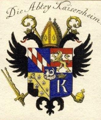 Kaisheim Abbey - Image: Kaisersheim Abbey coat of arms