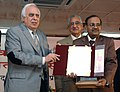 Kapil Sibal giving away the National Award for Science Communication for the year 2008 to Dr. Pramod Kumar Mohapatra from Orissa.jpg