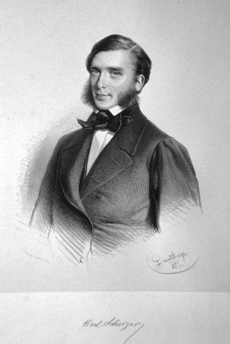 Karl von Scherzer - Karl von Scherzer, 1857