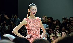 Karlie in Peach - Paris Haute Couture Spring-Summer 2012.jpg