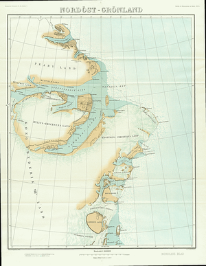 Lynn Island - 1911 German map of NE Greenland showing Lynn Island.