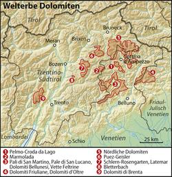carte touristique des dolomites Dolomites — Wikivoyage, le guide de voyage et de tourisme