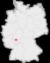 Tyskland med Frankfurt am Main har markeret