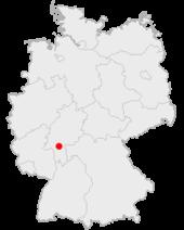 美因河畔法兰克福在德国的位置