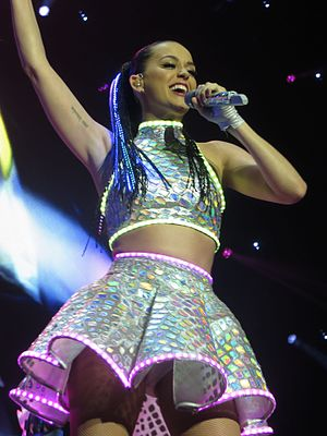 "Prism (Katy Perry album) - Perry performing ""Roar"" at The Prismatic World Tour"