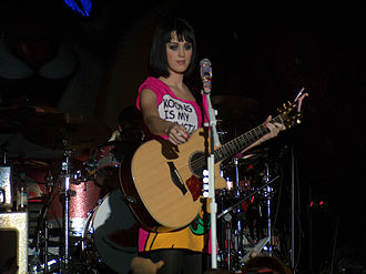 """I Kissed a Girl - Perry performing """"I Kissed a Girl"""" at her Hello Katy Tour in March 2009"""
