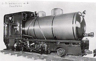 Fireless locomotive Locomotive powered by a reservoir of superheated steam or compressed air.
