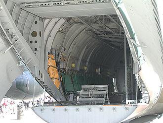 Kawasaki C-1 - Internal cargo cabin view