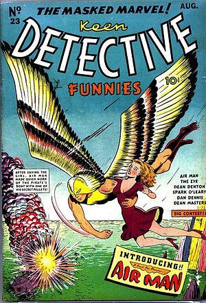 Airman (comics) - Image: Keen Detective Funnies 23