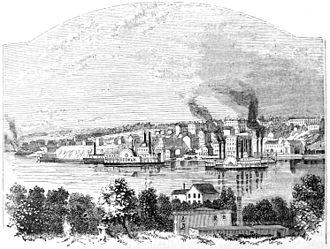 Keokuk, Iowa - Keokuk in 1865.