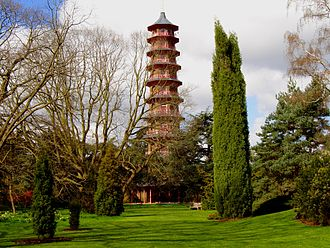 Chinoiserie - Sir William Chambers' Pagoda at the Royal Botanic Gardens at Kew, London