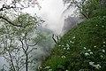 Khodz River Valley in fog, Adygea, Верховья реки Ходзь в тумане и облаках, Адыгея.jpg