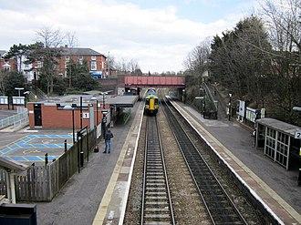 Kidderminster railway station - Image: Kidderminster Station From Footbridge, by Roy Hughes, geograph 3394658