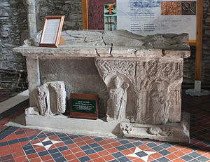 Great Connell Priory - Tomb of Walter Wellesley which has been moved to the south transept of Kildare Cathedral in 1971