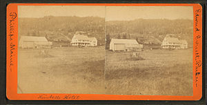 Phillips, Maine - Image: Kimball's Hotel, Phillips, Maine, from Robert N. Dennis collection of stereoscopic views