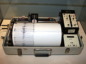 A Kinemetrics seismograph, formerly used by th...