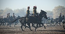 King's Troop, Royal Horse Artillery riding during a gun salute ceremony.jpg