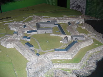 Charles Fort (Ireland) - Relief map showing star layout