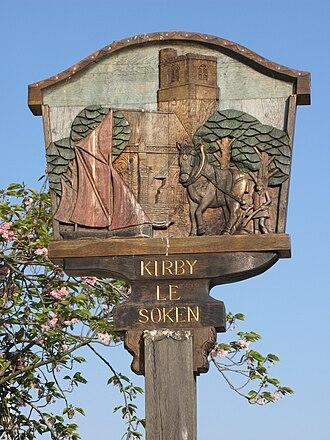 Kirby-le-Soken - Image: Kirby le Soken village sign