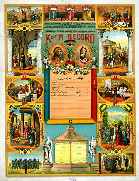 File:Knights of Pythias membership certificate 1890.jpg
