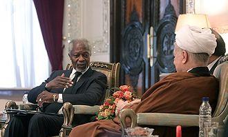Kofi Annan - Annan meeting with former Iranian President, Akbar Hashemi Rafsanjani