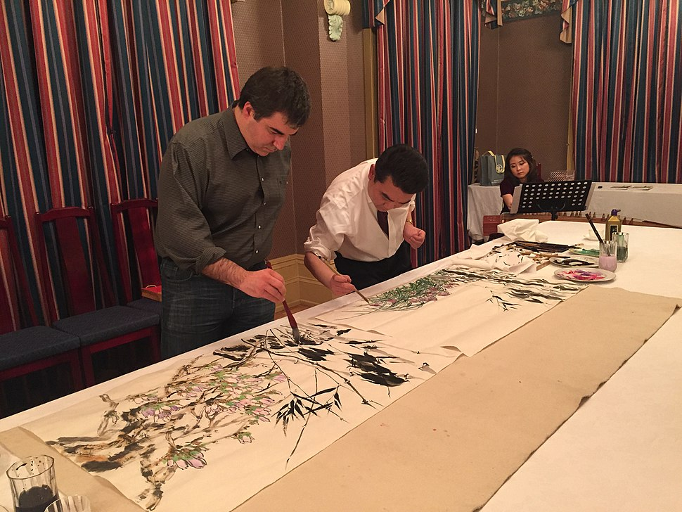Konstantin Novoselov Chinese painting 2015