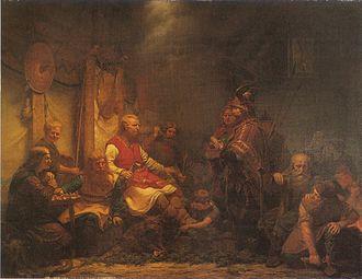 August Malmström - Image: Konung Ellas sändebud inför Ragnar Ladbroks söner (1857) av August Malmström
