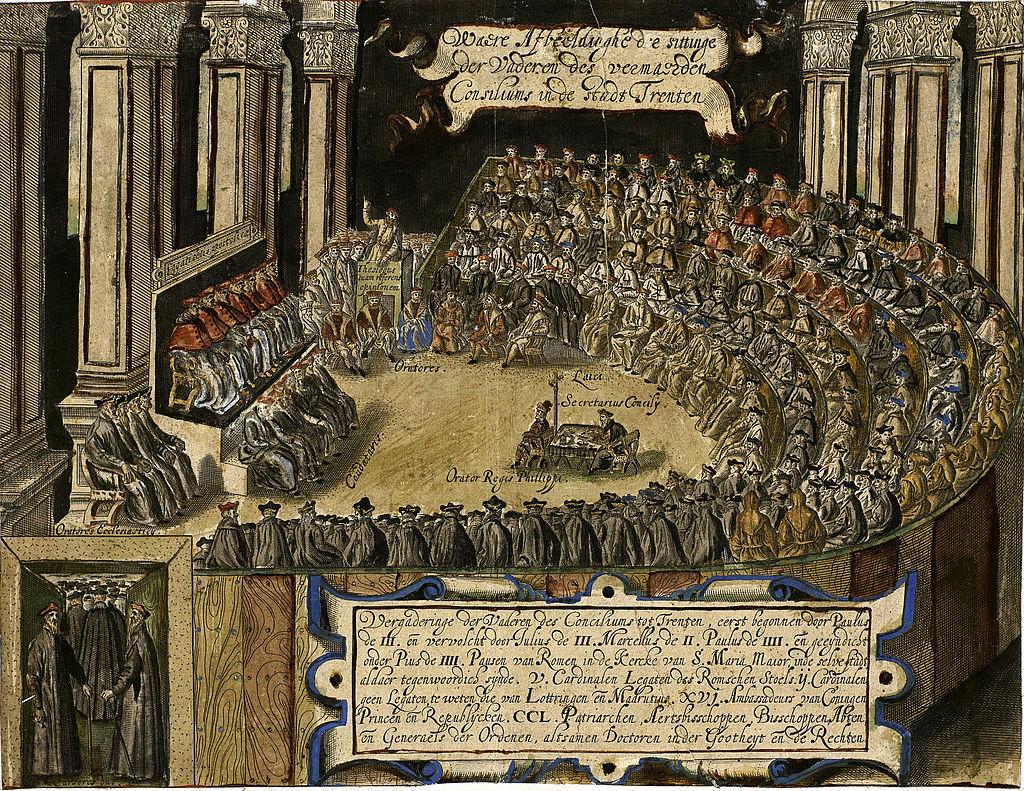 Заседание Тридентского собора. Изображение из Википедии
