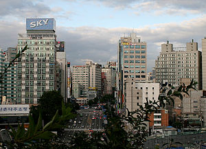 Sinchon-dong, Seoul - Image: Korea Seoul View of Sinchon 01