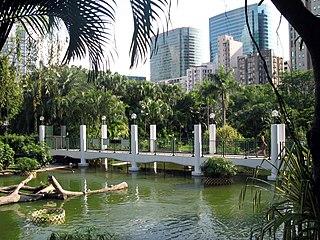九龍公園處於鬧市之中,才是名副其實的「城市中的公園」。 (圖片:WiNG@Wikimedia)