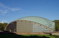 Kresge Auditorium, MIT (view with Green Building).JPG