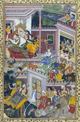 Kamsa - Krishna kill Kamsa