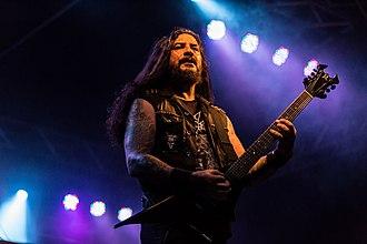 Krisiun - Guitarist Moyses Kolesne at Rock unter den Eichen 2017