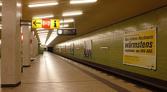 Kurfürstendamm (Berlin U-Bahn) - Platform of the U9