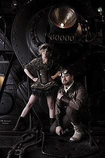 Steampunk Science fiction genre inspired by 19th-century industrial steam-powered machinery