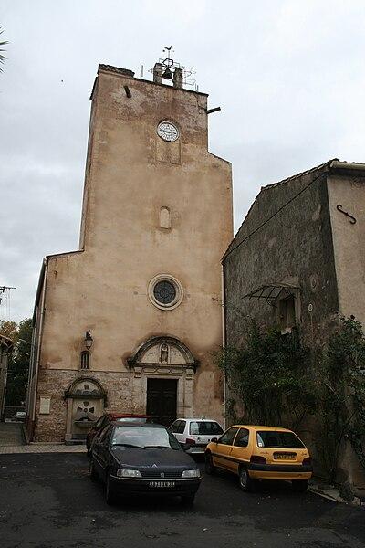 Lézignan-la-Cèbe (Hérault) - église de l'Assomption-de-Notre-Dame.