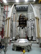 LADEE just prior to nosecone encapsulation