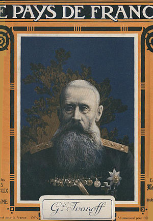 Nikolay Iudovich Ivanov - Ivanov portrait in a French journal, based on a photograph