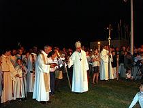 La Clarté en Perros Guirec Mgr Gilson pardonneur 2009.jpg