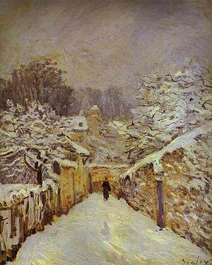Des pas sur la neige - La Neige à Louveciennes (Snow at Louveciennes)