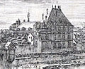 La perspective du Pont neuf de Paris, engraving by Stefano della Bella - Gallica 2011 (detail with Hôtel de Nevers).jpg