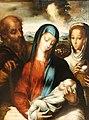 La sagrada familia con el horóscopo de Cristo (c. 1560), de Luis de Morales.jpg