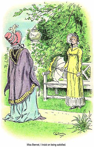 Pride and Prejudice - Lady Catherine and Elizabeth by C. E. Brock, 1895