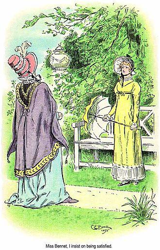 Pride and Prejudice - Lady Catherine and Elizabeth by C. E. Brock, 1895