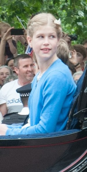 British princess - The Lady Louise Windsor, granddaughter of the Queen.