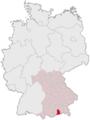 Lage des Landkreises Miesbach in Deutschland.png
