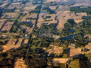 Lakeville, Indiana - Lakeville from the west
